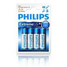 PHILIPS, Baterie Extremelife, AA, 4 kusy