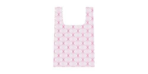 TESCOMA Nákupní skládací taška, šedo-růžová