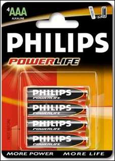 Philips, Baterie Powerlife, AAA, 4 kusy